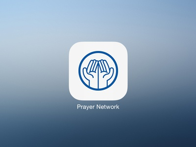 Prayer Network iOS icon ios app icon prayer hands network