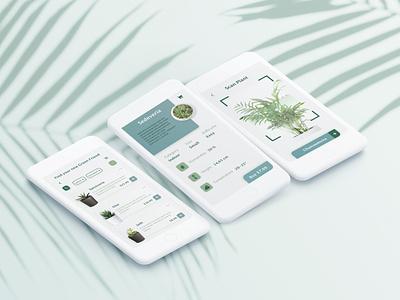 Florest Mobile App florest buy mobile design mobile app ui concept scan greenfriend shop plants