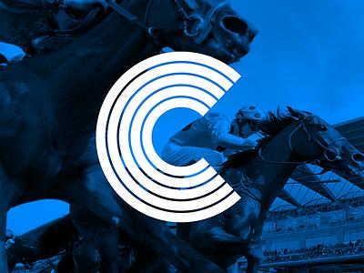 C ~ 2 horses horse race race blue sport