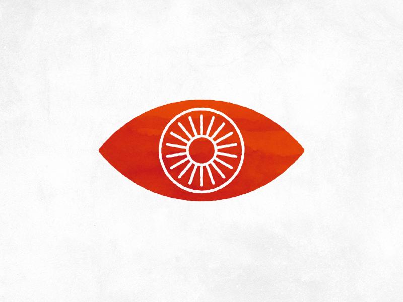 Icon - Insight insight rough line white eye texture orange icon