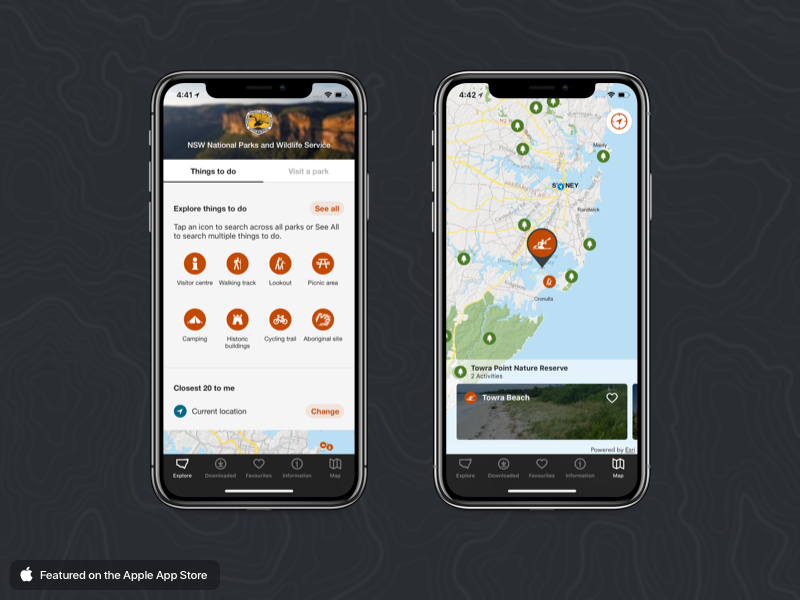 NSW National Parks App cycle trail historic buildings kayaking bush walks maps nsw parks national parks national park