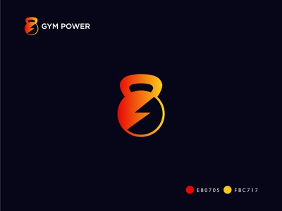 Gym Power Logo Design design best creative logo modern