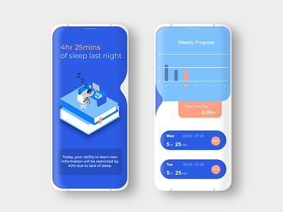 Data Visualisation- Sleep Tracker design app ui