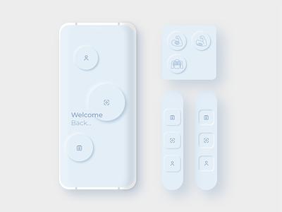 Neumorphic Iconography- Gym Safety App ui app design