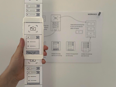 Paper Wireframe Prototyping ux app design