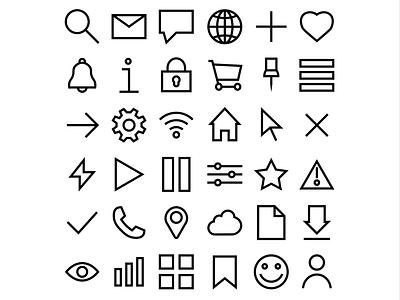 Customisable Iconography icon ui design