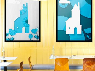 Beachwood Cafe Posters design retail design brand design restaurant branding