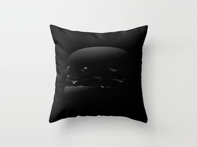 Black Burger Pillow