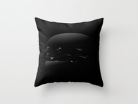 Black Burger Pillow