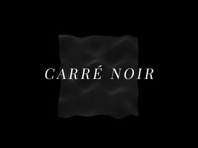 Carré Noir ▲ Visual Experiment #01 animation webgl geometric dark black graphic experiment elegant elegant font 3d aftereffects motion design carré serif minimal wave flag visual design visual art visual