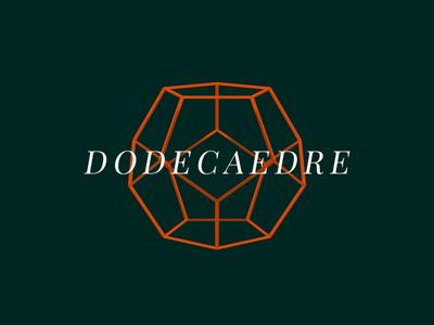 Dodecaedre ▲ Visual Experiment #02 animation webgl visual design visual art motion design serif graphic experiment elegant green orange minimal polygon geometric black aftereffects 3d