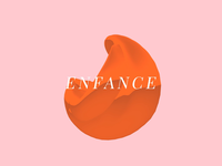 Enfance ▲ Visual Experiment #03 animation webgl wave visual design visual art visual motion motion design minimal graphic geometric experiment elegant pink orange aftereffects 3d liquid circle