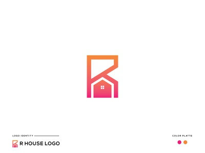Letter R House Logo | R Monogram minimalist logo minimal logo logo design brand identity vector modern logo design lettermark creative logo logo designer real estate logo design real estate logo property logo house logo
