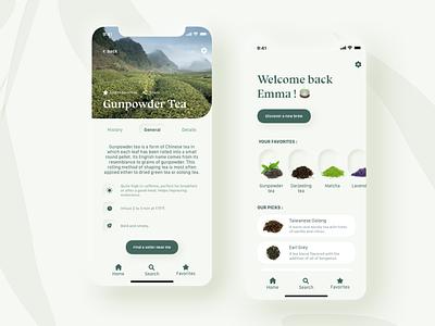 Tea App Concept dribbble shot mobile neomorphism tea neumorphism ux app ui design