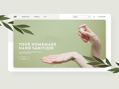Essential oils shop landing page webdesign natural essential oils dribbble ui dribbble shot design