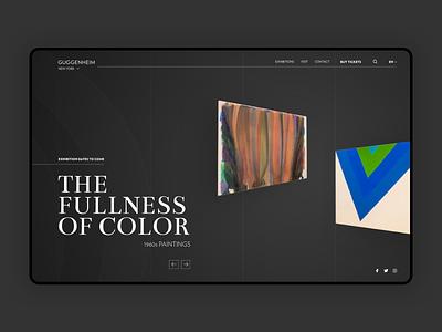 Museum Landing Page concept sketch guggenheim museum ui dribbble shot webdesign design