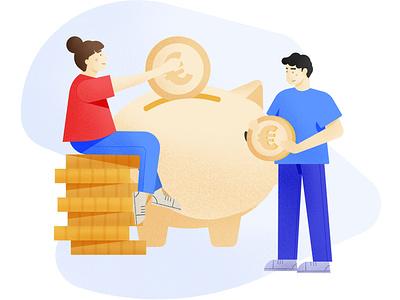 Savings branding procreate vector savings illustration