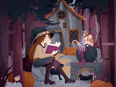 Spooky procreate spooky halloween illustration dribbble shot