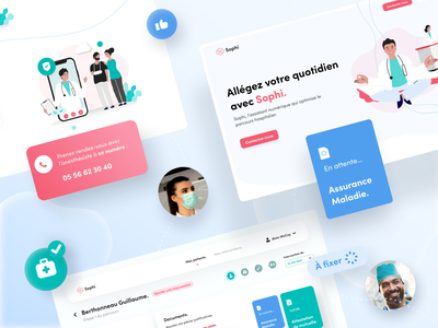 Sophi Landing Page & Web app shot hospital surgeon health webdesign ux ui design