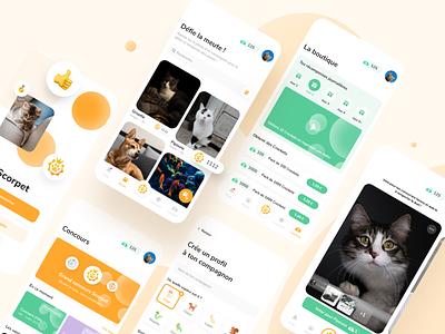 Scorpet UI design cute animals cute social network pet branding mobile ui dribbble design
