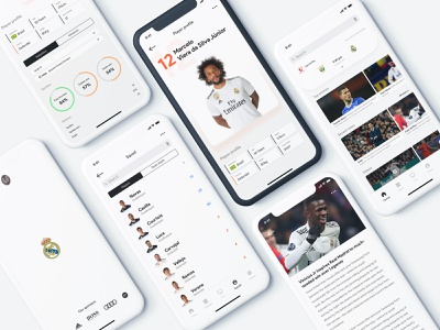 Real Madrid: Sports App Concept app mobile ios sport concept real madrid soccer football sports