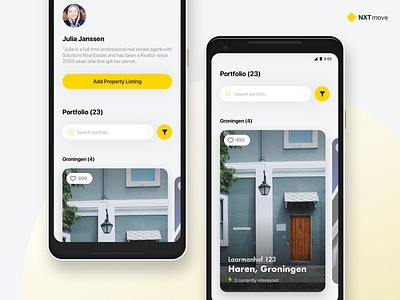 NXTmove: Real Estate concept 1 sketch dutch pixel 2 cards mobile web web real estate