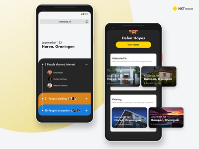 NXTmove: Real Estate concept 3 cards pixel 2 sketch mobile web web real estate