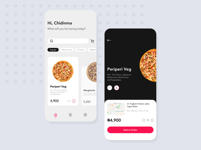 Pizza Delivery (concept) pizza delivery food mobile