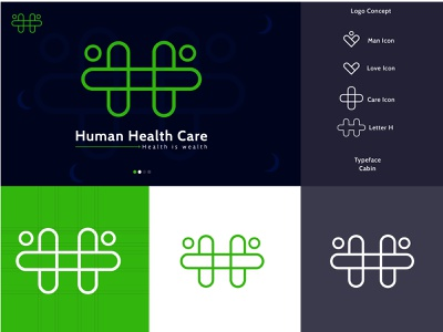 Human Health Care logo design logo design letter logo vector expert designer healthcare medical medical logo clean design elegant clean branding logo design dailylogochallenge creative logo creative designer creative branding graphicdesign creative concept design