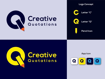 Creative Quotation  Logo & App Icon Design creative agency creative design color logos logotype app icon quotation logo creative quotations logo creative branding logo dailylogochallenge creative logo clean design creative designer graphicdesign creative concept design