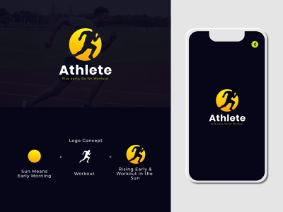 Athlete Logo Design esport logo creative design adobeillustrator logo maker logo mark creative branding branding gradient logo design elegant creative designer logotype creative logo design clean logo graphicdesign creative concept design