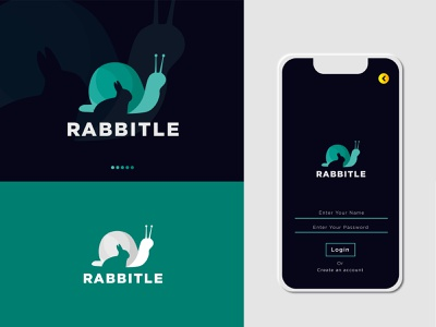 Rabbitle- Negative Space Logo- App icon Design logo design branding iconic logo adobe illustrator vector modern logo gradient logo mark creative designer elegant logotype design creative logo clean logo graphicdesign creative concept design