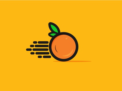 A Modern Sktech Logo Of Orange, Delivery Company concept minimalistic minimalist logo minimalist minimal simplicity creative design orange logo illustrator design creative branding elegant vector branding creative logo graphicdesign modern logo illustration logomaker logodesign