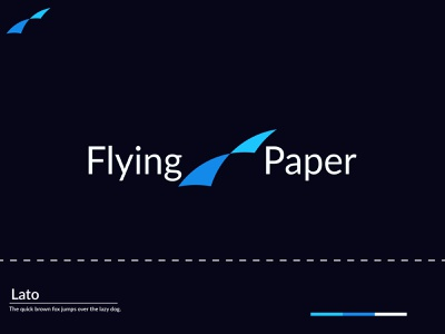 A Modern Logo  Paper Fly logo design conceptual brand identity branding creative logo graphicdesign elegent illustator modern logo minimalistic minimalist minimal gradient modern clean illustration creative logomaker logotype logodesign