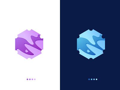 Hexabite Logo Design, Modern Trendy Liquid Gradient Logo gradient logo logomaker illustrator hexagone logo modern logo brand identity brand gradient branding logodesign vector illustration creative branding creative logo logo graphicdesign creative