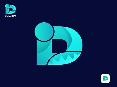 Modern Letter D & I, Letter mark logo graphic design vector design corporate identity creative logo concept creative lettermark minimalistic modern logo design illustration modern logo logomaker app icon gradient branding identity