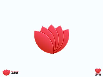 Modern Trendy Lotus Logo Design modern logo flower logo concept branding creative logo vector illustration graphicdesign creative branding logotype logomaker business logo gradient gradient logo logo design logo maker logo creative
