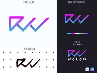 Letter W Modern Gradient Logo Design creative branding brand identity branding gradient logo logotype design graphicdesign illustration sketch professional logo app icon corporate logo creative logo business logo modern logo lettering logomaker logodesign