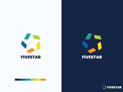 Five Star Modern Colorful Logo Design colorful logo logomark logo inspiration logomaker education logo negative space logo minimalist logo vector clean corporate logo brand identity professional logo branding graphicdesign illustration creative logo business logo modern logo logodesign logo