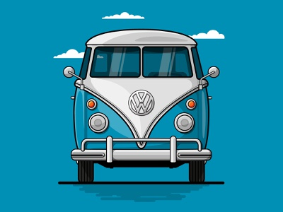 Dream Car - 1967 VW Transporter T1 freelance logo designer illustration art illustrator car freelance illustrator vector art vector illustration designer art direction design artwork corporate design freelance design flat illustration flat design design adobe illustrator vector graphic design freelance designer art direction