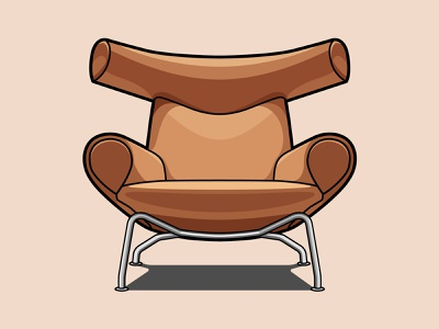 Ox Chair by Hans Wegner art direction design freelance illustrator illustration chair design design icon design iconography icon illustrator chair vector art freelance design vector illustration flat design flat illustration adobe illustrator graphic design vector freelance designer art direction