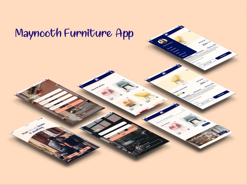Maynooth Furniture App interior design icon branding logo xd design website web ux ui design app