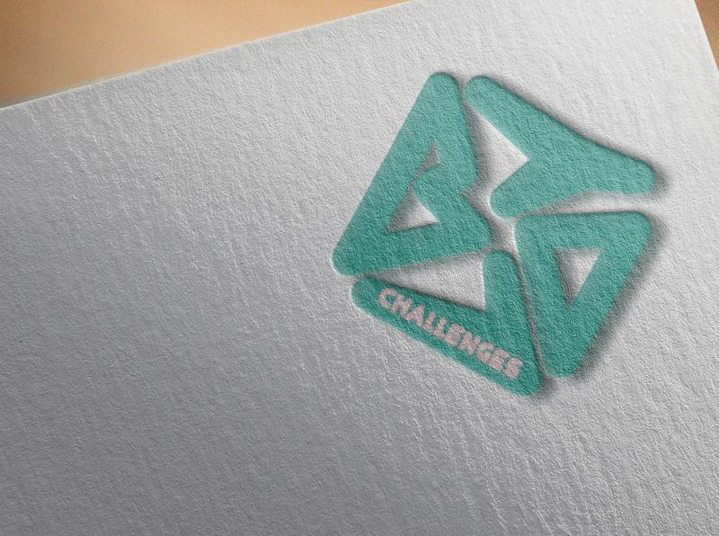 Bring Your Own Laptop Logo Challenge geometric colours challenges website xd design web ux ui logo design