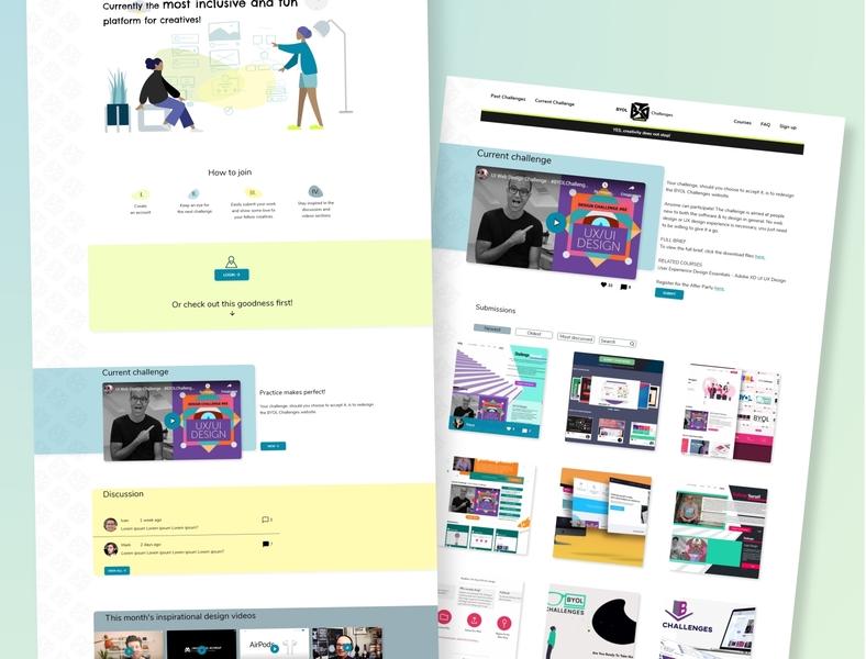 BYOL Website Challenge logo colours branding app web xd design website ux ui design