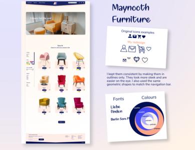 Maynooth Furniture website branding web colours logo website ui ux xd design design