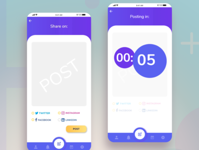 Daily UI Challenge: Ch. N10 and N14 socialmedia dailyuichallenge dailyui challenges app branding xd design ux ui design