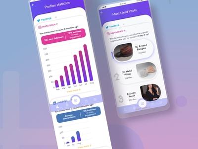 Daily UI Challenge: Ch. N18 and N19 socialmedia dailyuichallenge dailyui challenges app branding xd design ux ui design