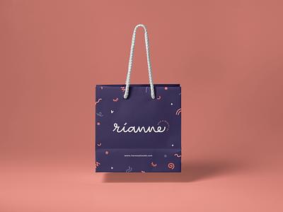 Rianne Hair & Beauty editorial illustration logotype brand identity logo logo design brand design colour palette branding design