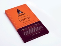 Andreas Artisan Truffle Bar Packaging icon identity layout marketing logo branding typography packaging