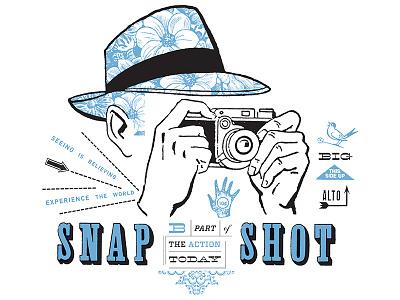 Snap T-Shirt Design shirt icon typography layout illustration design